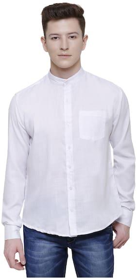 ADORSY Men Regular fit Formal Shirt - White