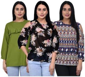 ADORSY Women Printed A-line top - Multi
