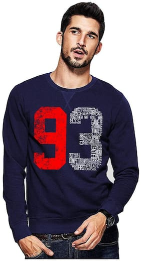 Adro Men Fleece Pullover - Navy blue