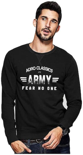 Adro Men Fleece Pullover - Black