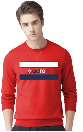 Adro Men Fleece Pullover - Red