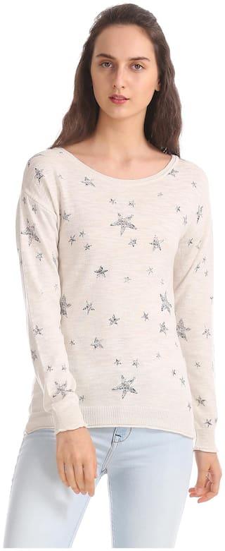 Aeropostale Regular Fit Star Print Sweater