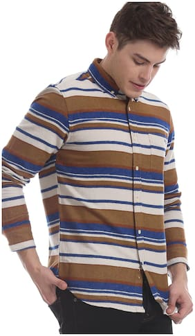 Men Regular Fit Abstract Casual Shirt