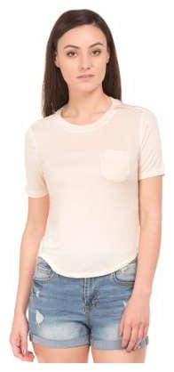Aeropostale Women Solid A-line top - White
