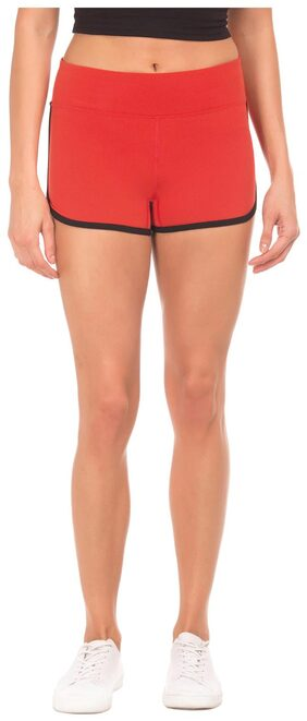 Aeropostale Women Solid Shorts - Red