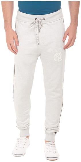 Slim Fit Cotton Track Pants Pack Of 1
