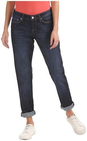 Aeropostale Women Regular Fit Mid Rise Washed Jegging - Blue