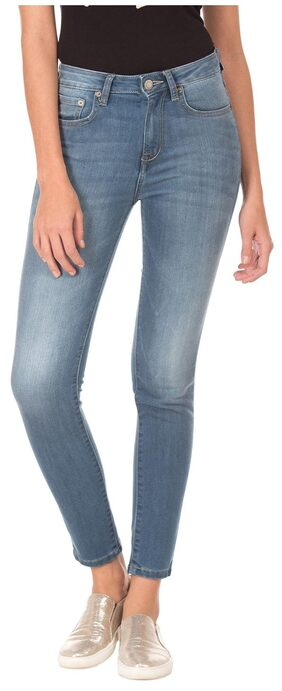 Aeropostale Women Slim Fit Mid Rise Printed Jegging - Blue