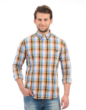 Aeropostale Men Regular Fit Casual shirt - Yellow