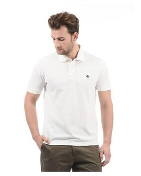 Aeropostale Men's Regular Fit Polo Solid T-Shirt - White