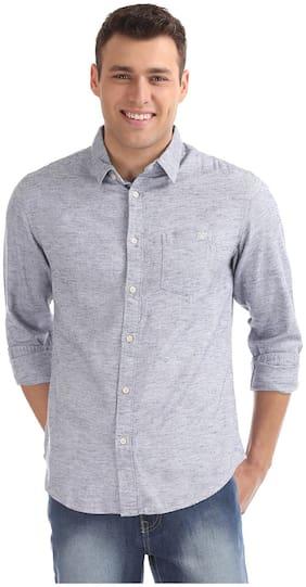 Men Regular Fit Weaved Casual Shirt
