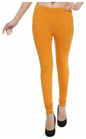 AF INDIA Cotton Leggings - Yellow