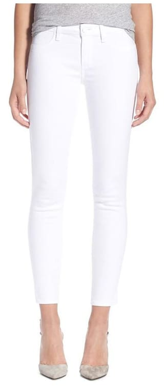 AFW Women's White Strechable Denim Jeans