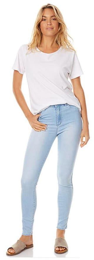 Strechable Women's Denim Jeans Blue AFW Z0Twv