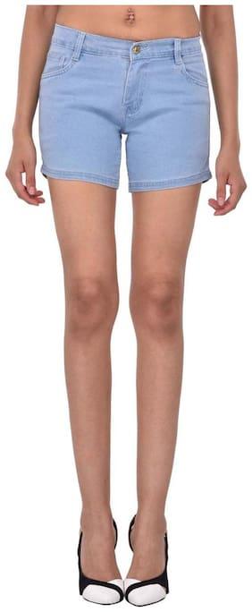 Women Denim Regular Fit Shorts