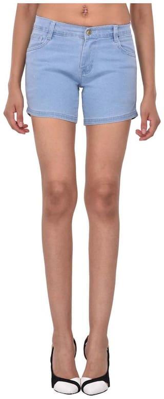 AFW Women's Blue Strechable Denim Shorts