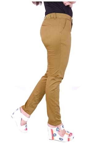 Airwalk Beige Cotton Trouser (Size-28)