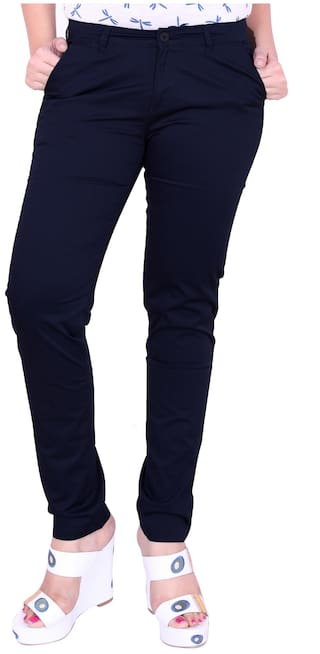 Airwalk Blue Cotton Trouser (Size-28)