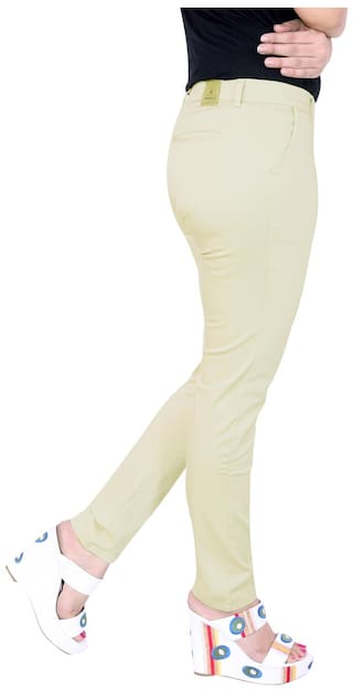 Airwalk Cream Cotton Trouser (Size-28)