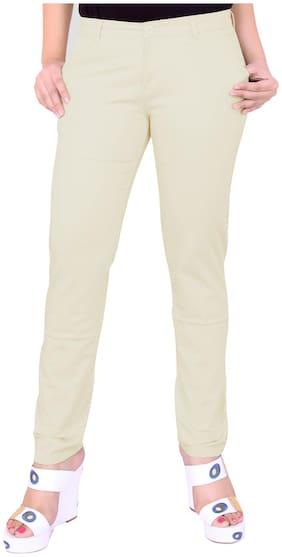 Airwalk Cream Cotton Trouser (Size-36)