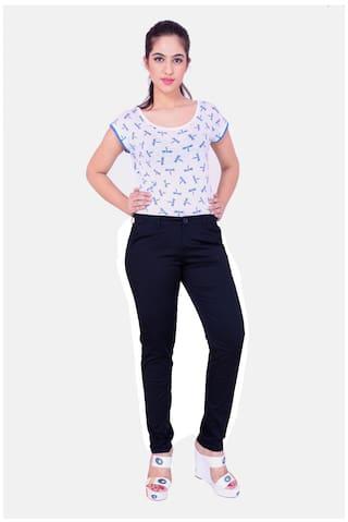 Airwalk Dark Blue Cotton Trouser (Size-28)