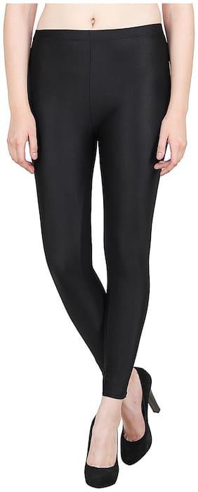 Aiyra Women Polyester Solid Legging Black