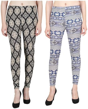 Aiyra Women Skinny Fit Mid Rise Printed Jegging - Multi