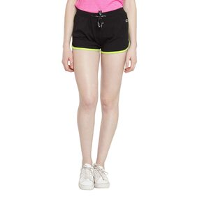 Ajile by Pantaloons Women's Baby Pink Solid Cotton Spandex Shorts