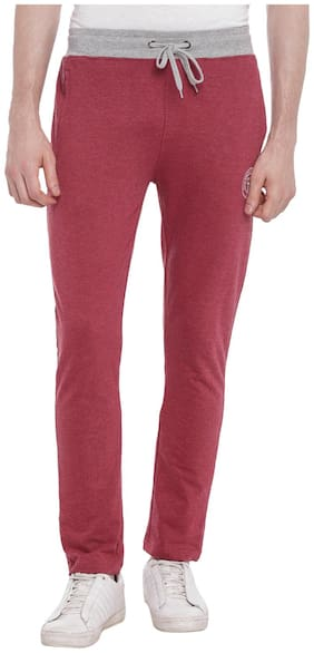 Ajile By Pantaloons Men Poly cotton Track Pants - Red