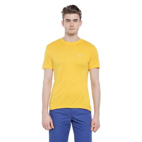 Ajile By Pantaloons Men Round Neck Sports T-Shirt - Yellow