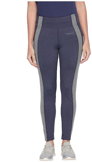Ajile By Pantaloons Women Regular fit Blended Solid Track pants - Blue