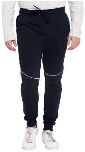 Ajile By Pantaloons Men Cotton Track Pants - Blue