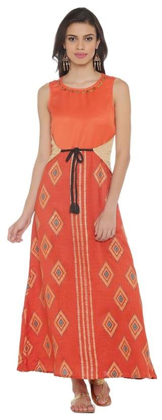 S Akkriti Pantaloons Women Brown Regular Fit Dress Cotton by AqFxqP8p7