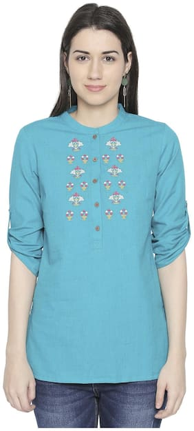 Women Embroidered Round Neck Top ,Pack Of 1