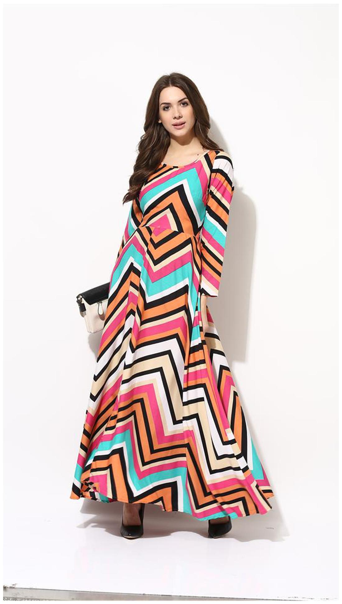 dd2a814d7470 https   assetscdn1.paytm.com images catalog product . AKS Multicolored  Printed Maxi Dress