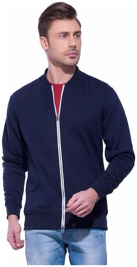 Alan Jones Clothing Men Cotton Sweatshirt - Blue