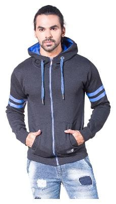 Alan Jones Clothing Men Cotton Hoodie - Black