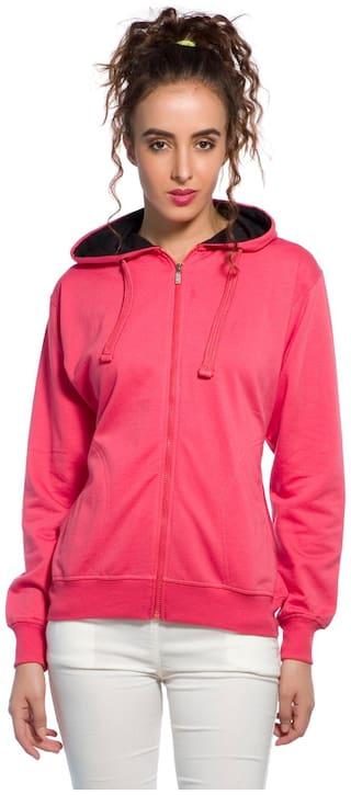 Alan Jones Clothing Women Solid Sweatshirt - Pink