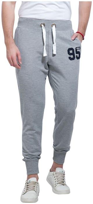Alan Jones Solid Men's Melange Track Pants