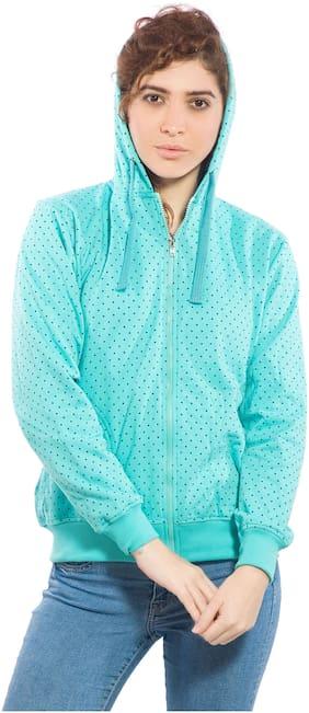 Alan Jones Women Polka Dots Sweatshirt - Blue
