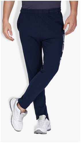 Alcis Men Cotton Track Pants - Blue