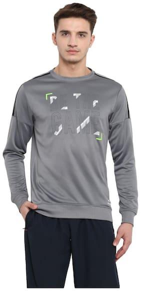 Alcis Men Polyester Sweatshirt - Grey