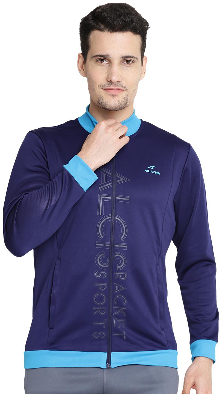 Alcis Men Blue Printed Sports jacket by Alcis Sports