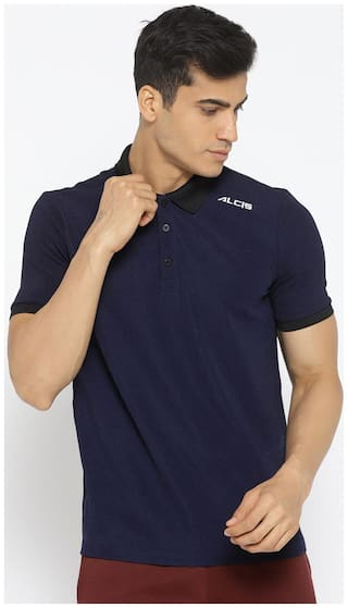 Alcis Men Blue Regular fit Quick dry Sports T-Shirt