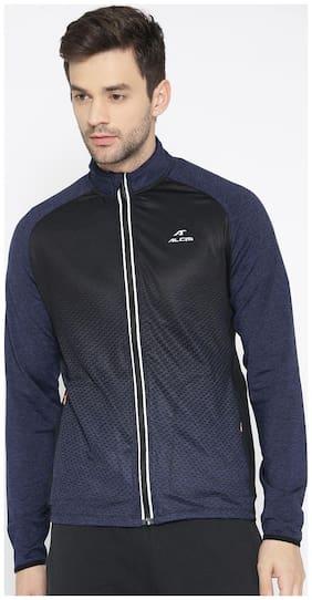 Alcis Men Polyester blend Jacket - Navy blue & Black