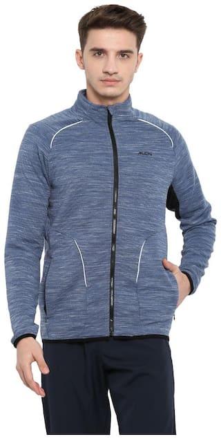 Alcis Men Polyester Blend Solid Blue Jacket