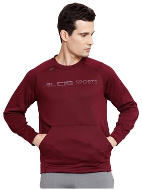 ALCIS MEN PURPLE TRAIN WARM SWEAT