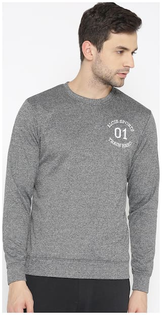 Alcis Men Solid Grey Sweat Shirt