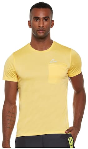 ALCIS MEN YELLOW SLOUNGE TEE