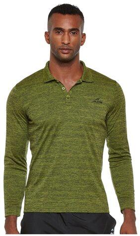 Alcis Men V Neck Sports T-Shirt - Green